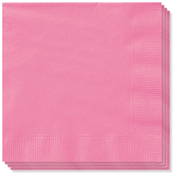 Hot Pink 2 Ply Napkins - 13 Inches / 33cm - Pack of 100