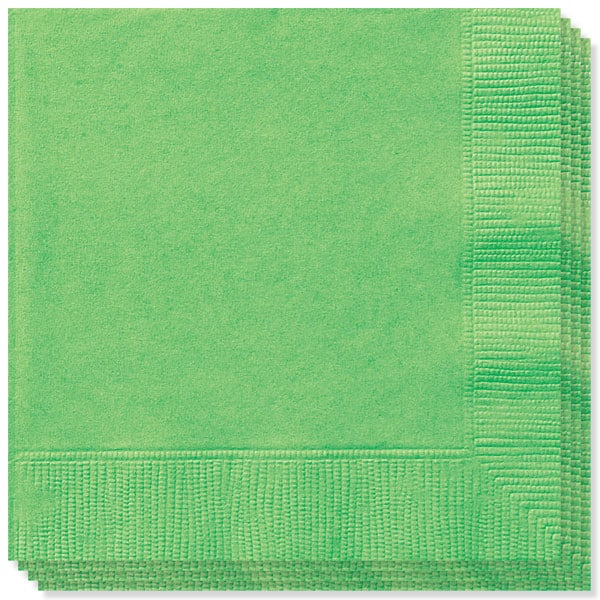Lime Green 2 Ply Napkins - 13 Inches / 33cm - Pack of 100