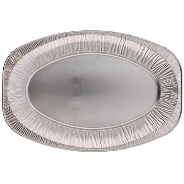 Medium Oval Foil Platters - 17 Inches / 43cm - Pack of 100