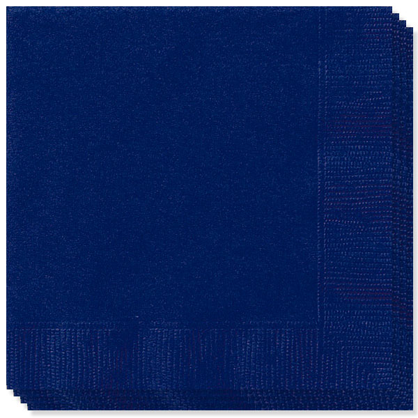 Navy Blue 2 Ply Napkins - 13 Inches / 33cm - Pack of 100
