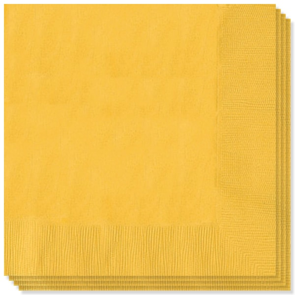 Yellow Sunshine 2 Ply Napkins - 13 Inches / 33cm - Pack of 100