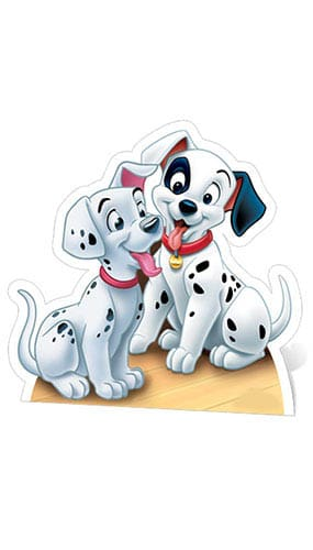 101 Dalmatians Puppies Lifesize Cardboard Cutout - 68cm Product Gallery Image