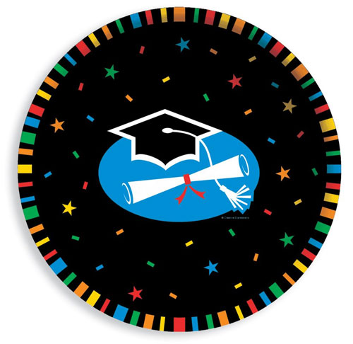 Graduation Stripes Plastic Bowl - 12 Inches / 30cm