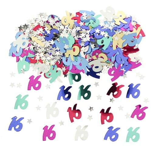 16th Birthday Assorted Table Confetti - 14 Grams