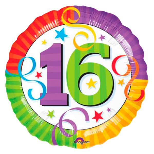 Perfection 16th Birthday Round Foil Balloon