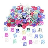 18th Birthday Assorted Table Confetti 14 Grams