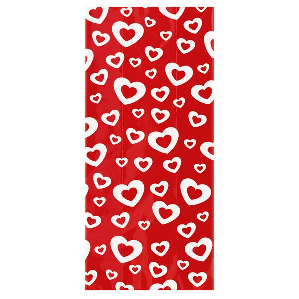 Hearts Gift Bags with Twist Ties - Pack of 20
