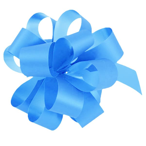 Light Blue Pull Bows - Pack of 20 Product Image