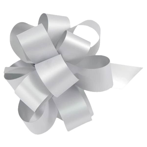 Metallic Silver Pull Bows - Pack of 20