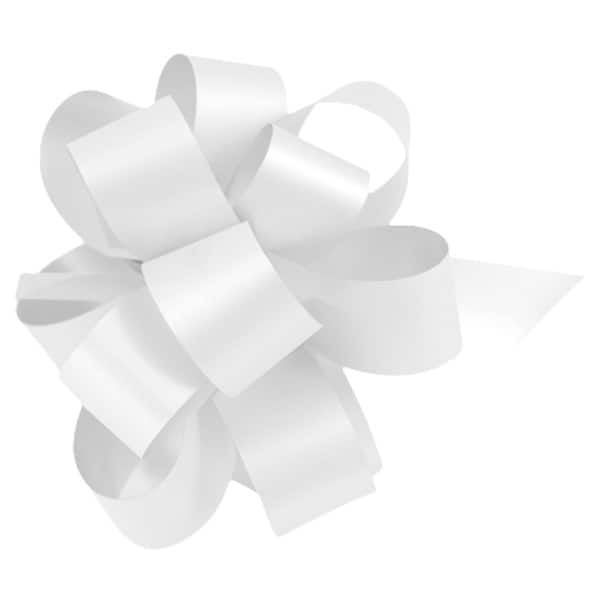 White Pull Bows - Pack of 20