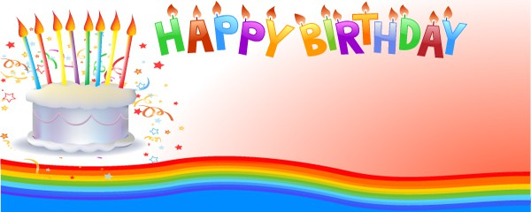 Happy 21st Birthday Cake Design Medium Personalised Banner - 6ft x 2.25ft