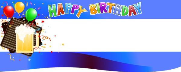 Happy 21st Birthday Beer Mug Design Large Personalised Banner - 10ft x 4ft