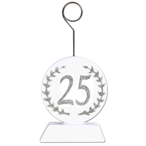 25th Anniversary Balloons/Photo Holder - 5 Inches / 13cm