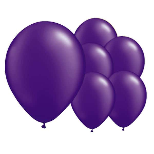 Electric Purple Biodegradable Latex Balloons - 12 Inches / 30cm - Pack of 50