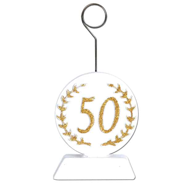 50th Anniversary Balloons/Photo Holder - 5 Inches / 13cm