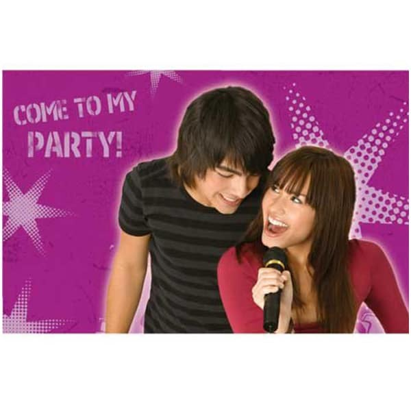 Disney Camp Rock Folded Invitations with Envelopes - Pack of 6 Product Image
