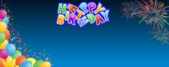 Happy 60th Birthday Celebration Design Small Personalised Banner- 4ft x 2ft