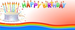 Happy 60th Birthday Cake Design Small Personalised Banner- 4ft x 2ft