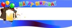 Happy 60th Birthday Beer Mug Design Small Personalised Banner- 4ft x 2ft