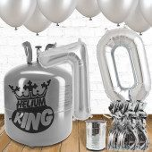 70th Birthday Helium Gas Package With Silver Balloons