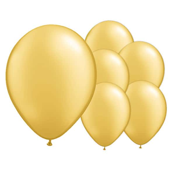 Champagne Gold Biodegradable Latex Balloons - 12 Inches / 30cm - Pack of 8 Bundle Product Image