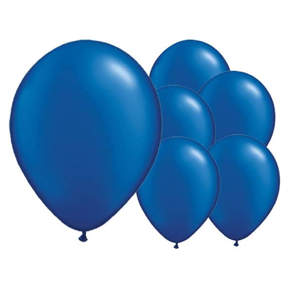 Cosmic Blue Biodegradable Latex Balloons - 12 Inches / 30cm - Pack of 8