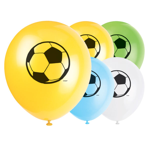 Football Biodegradable Latex Balloons - 12 Inches / 30cm - Pack of 8