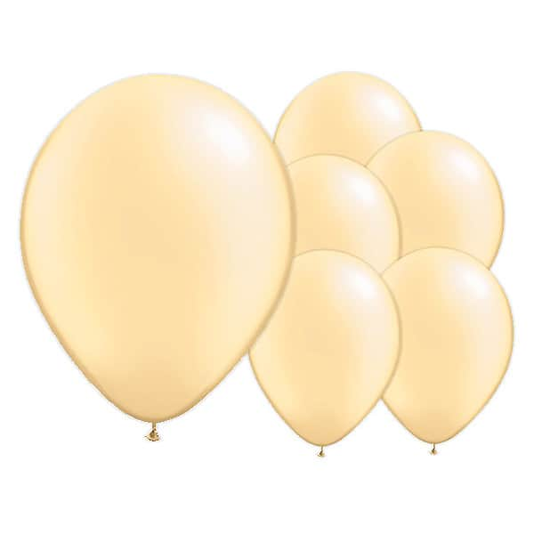 Pearl Ivory Biodegradable Latex Balloons - 12 Inches / 30cm - Pack of 8