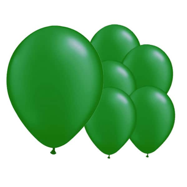 Pearlised Green Biodegradable Latex Balloons - 12 Inches / 30cm - Pack of 8
