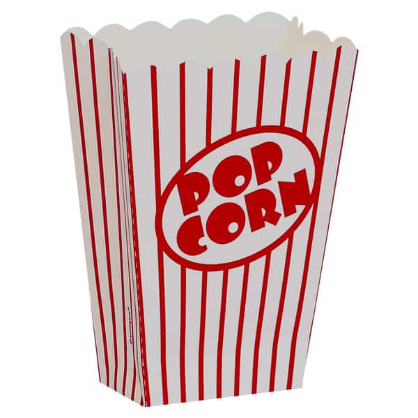 Popcorn Boxes - 5 Inches / 13cm - Pack of 8