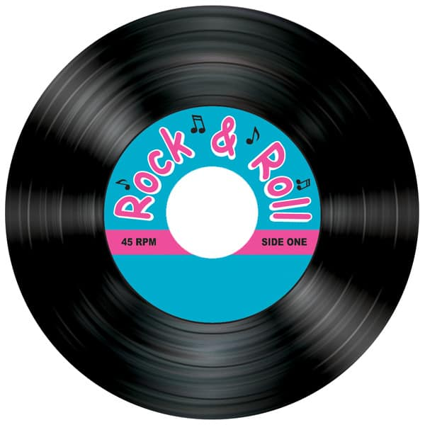 Rock and Roll Themed Coasters - Pack of 8