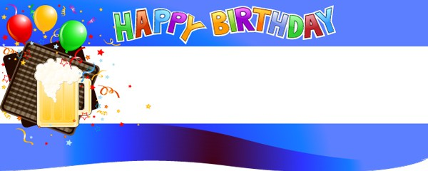 Happy 90th Birthday Beer Mug Design Small Personalised Banner- 4ft x 2ft