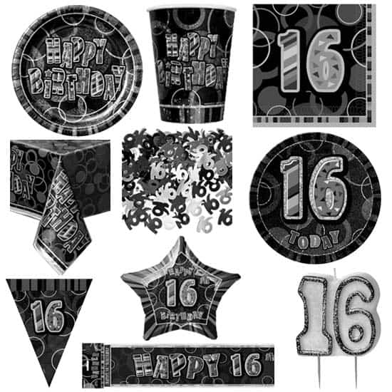 Age 16 Black Glitz 8 Person Deluxe Party Pack.jpg