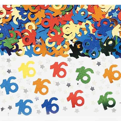 16th Birthday Table Confetti - 14 Grams