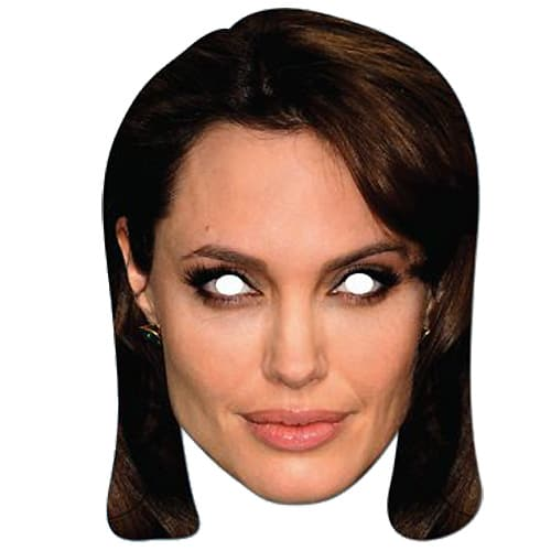 Angelina Jolie Cardboard Face Mask