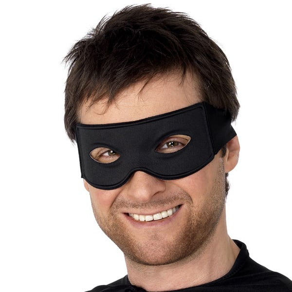 Black Bandit Eye Mask and Tie Scarf Product Image