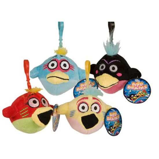 Assorted Bird Brains Clip On Cuddly Soft Toy