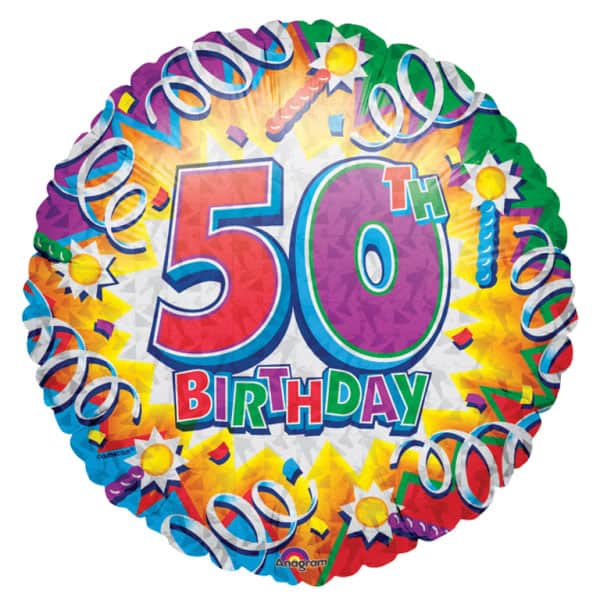 Birthday Explosion Age 50 Foil Helium Balloon 46cm 18Inch