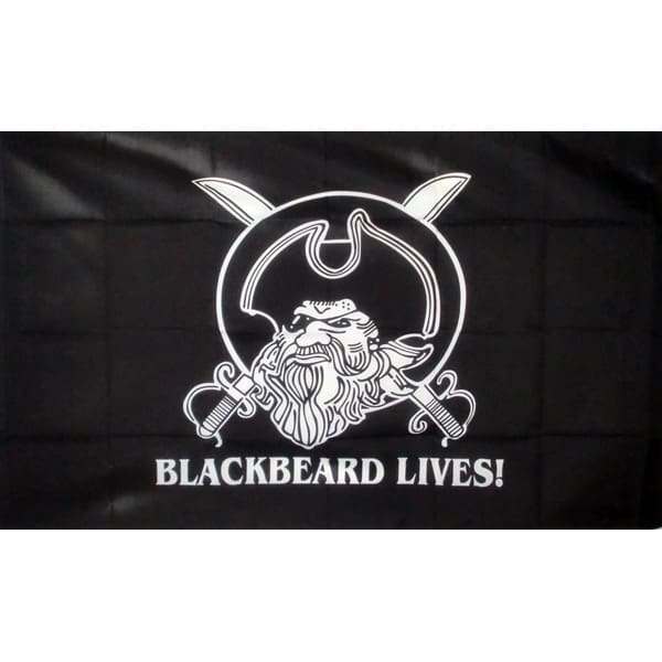 Black Beard Lives Pirate Flag