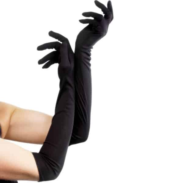 Black Elbow Length Fancy Dress Gloves