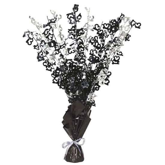 Black Glitz 13th Birthday Balloon Weight Centrepiece