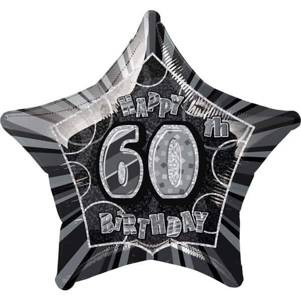 Black-Glitz-Age-60-Happy-Birthday-20-Inch-Prismatic-Foil-Balloon-product-image
