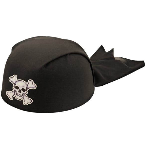 Black Pirate Bandana Adults Hat