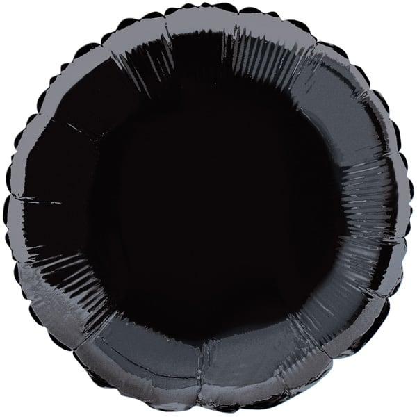 Black Round Foil Helium Balloon 45cm /18Inch