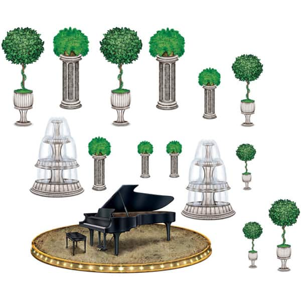 Black-Tie Piano and Decoration Props Scene Setter Add-Ons Product Image