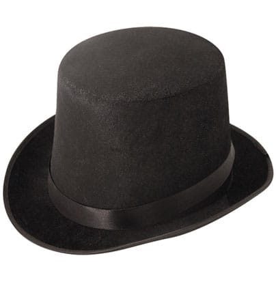 Black Velour Topper Hat