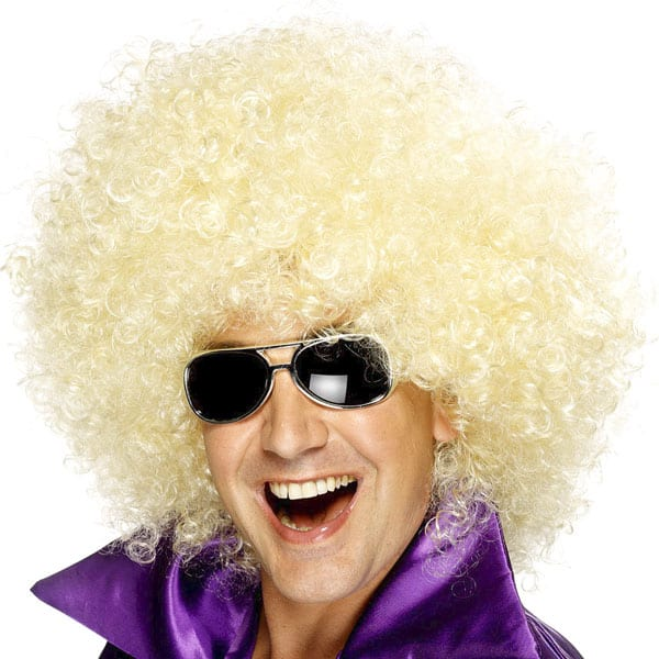 Blonde Large Unisex Afro Wig Product Image