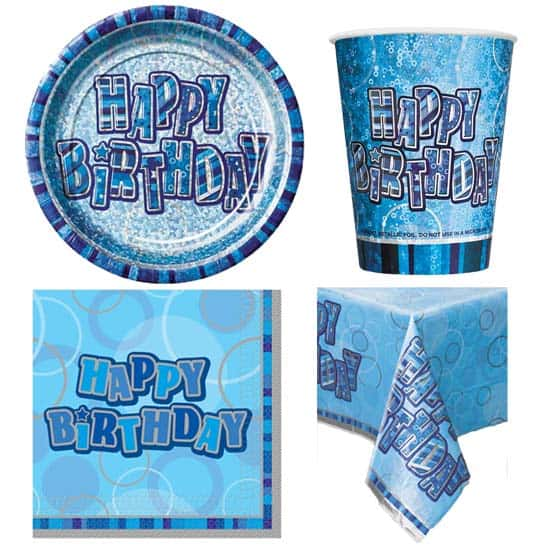 Blue Glitz 8 Person Party Pack