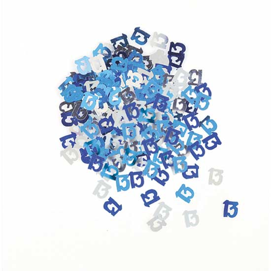 Blue Glitz 13th Birthday Table Confetti - 14 Grams