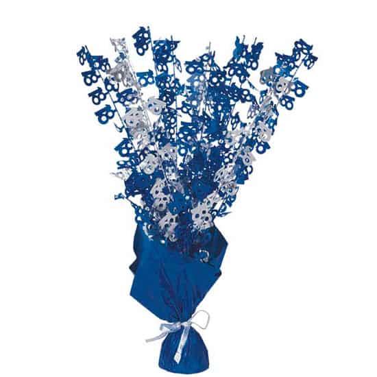 Blue Glitz 18th Birthday Balloon Weight Centrepiece
